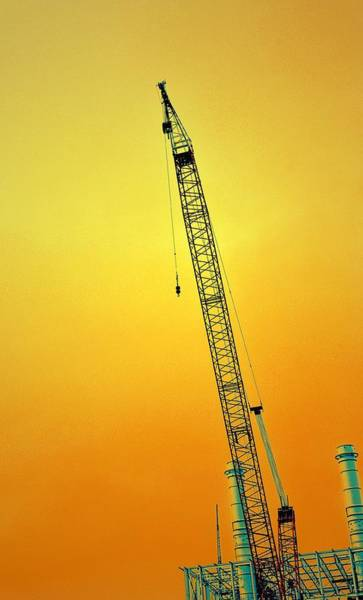Photograph - Crane With Towers by Michelle Calkins