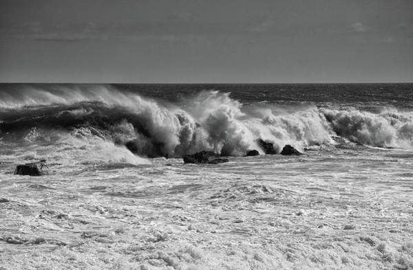 Photograph - Crashing Surf In Black And White by Cliff Wassmann