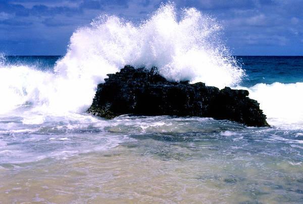 Photograph - Crashing Surf Sandy Beach Oahu by Thomas R Fletcher