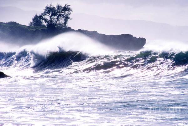 Photograph - Crashing Surf Waimea Bay by Thomas R Fletcher