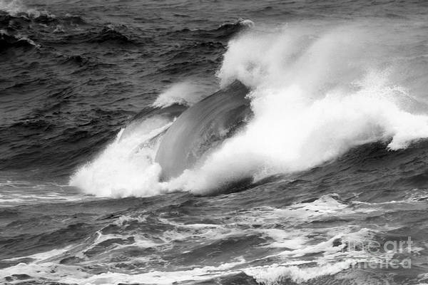 Photograph - Crashing Swells Black And White by Adam Jewell