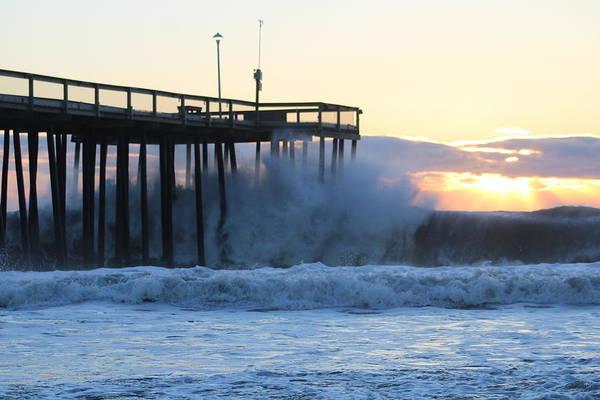 Photograph - Crashing Under The Pier by Robert Banach