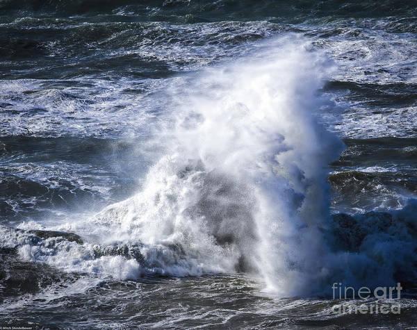 Whitecaps Photograph - Crashing Wave by Mitch Shindelbower