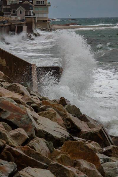 Photograph - Crashing Waves At Minot Beach by Brian MacLean