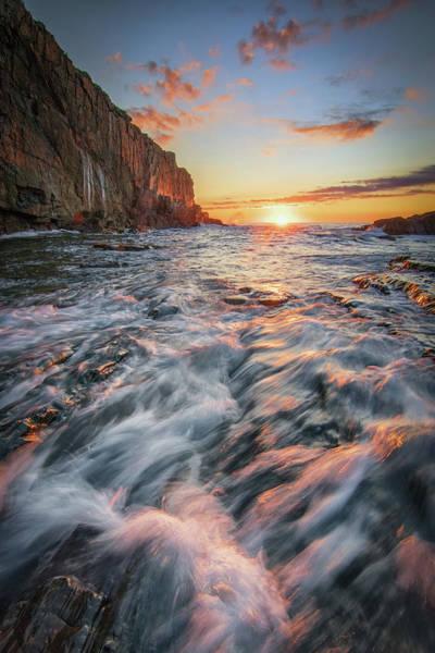 Photograph - Crashing Waves At Sunrise by Kristen Wilkinson