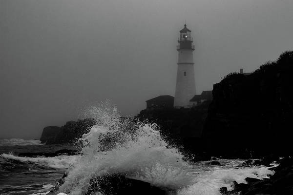 Photograph - Crashing Waves On A Foggy Morning by Darryl Hendricks