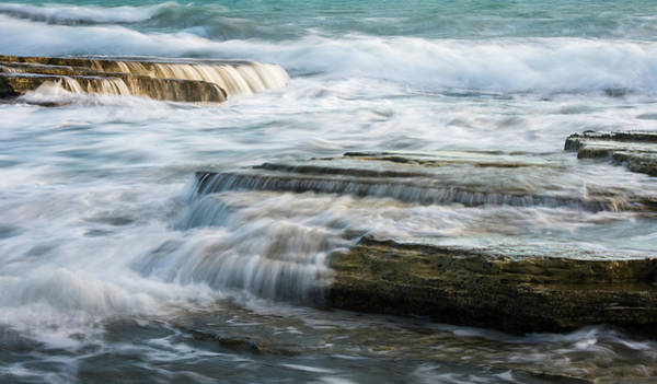 Outdoor Wall Art - Photograph - Crashing Waves On Sea Rocks by Michalakis Ppalis