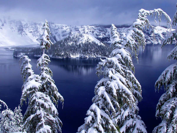 Crater Lake Photograph - Crater Lake by Christopher Johnson