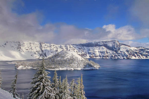 Volcanic Craters Photograph - Crater Lake by Donna Kennedy