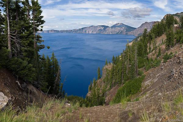 Photograph - Crater Lake In Mazama Caldera Oregon by Alexander Fedin