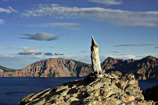 Timberline Photograph - Crater Lake In The Southern Cascades Of Oregon by Christine Till