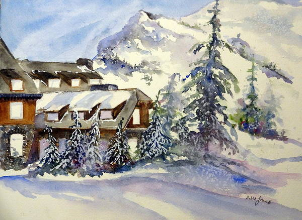 Painting - Crater Lake Lodge - Closed For Winter    by Anna Jacke
