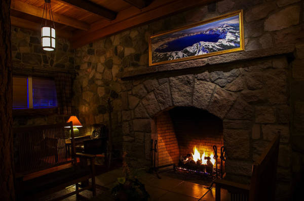 Wall Art - Photograph - Crater Lake Lodge Fireside Relaxation by Scott McGuire