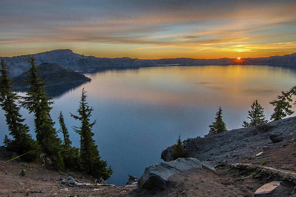 Photograph - Crater Lake Morning No. 2 by Matthew Irvin