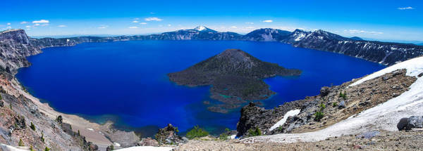 Crater Lake Photograph - Crater Lake National Park Panoramic by Scott McGuire