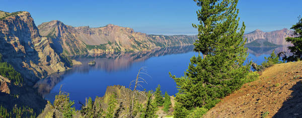Photograph - Crater Lake Panoramic Reflections by Greg Norrell