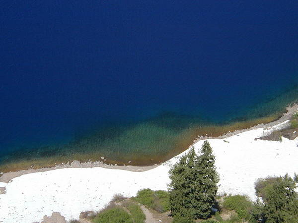 Crater Lake Np Photograph - Crater Lake Rainbow by Rich Bodane