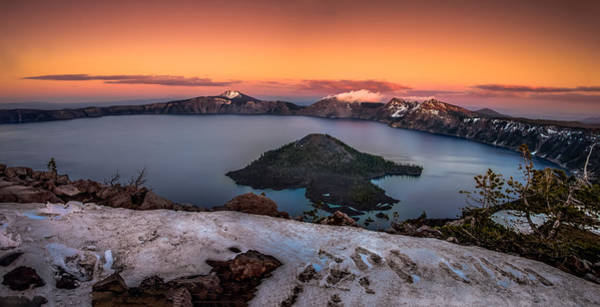 Crater Lake Photograph - Crater Lake Summer Sunset by Scott McGuire