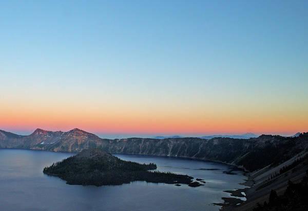 Crater Lake Np Photograph - Crater Lake Twilight by Doug Davidson