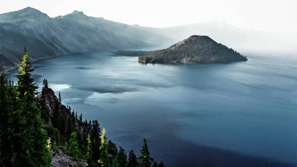 Wall Art - Photograph - Crater Lake Under A Siege by Eduard Moldoveanu