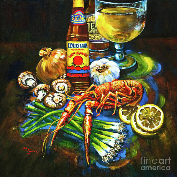 Louisiana Wall Art - Painting - Crawfish Fixin's by Dianne Parks