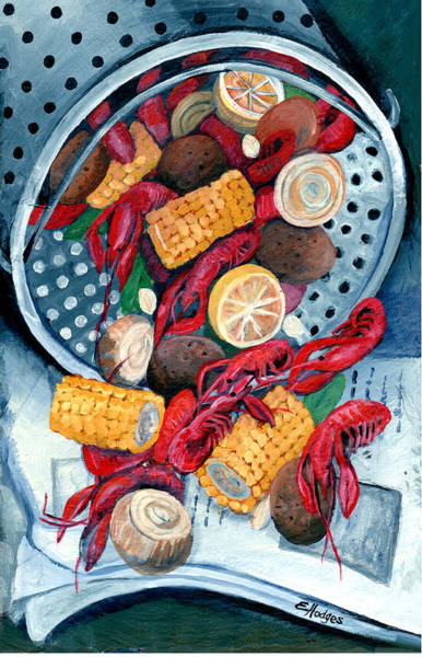 Wall Art - Painting - Crawfish Pot by Elaine Hodges
