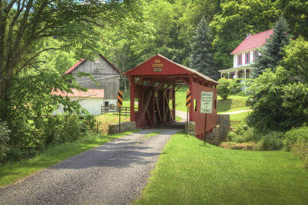 Photograph - Crawford Covered Bridge by Jack R Perry