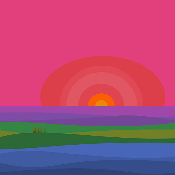 Digital Art - Crayon Box Landscape by Val Arie