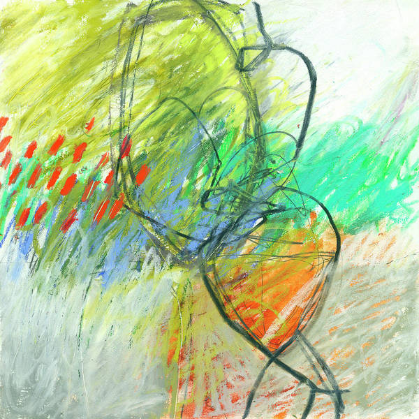 Wall Art - Painting - Crayon Scribble #1 by Jane Davies
