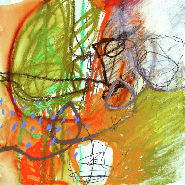 Wall Art - Painting - Crayon Scribble#3 by Jane Davies