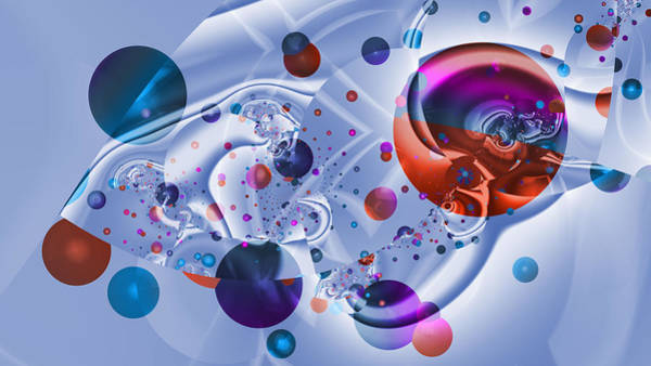 Digital Art - Crazy Bubble Attraction by Frederic Durville