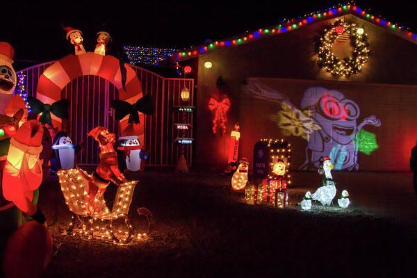 Photograph - Crazy Christmas Lights 4 by Bonnie Follett