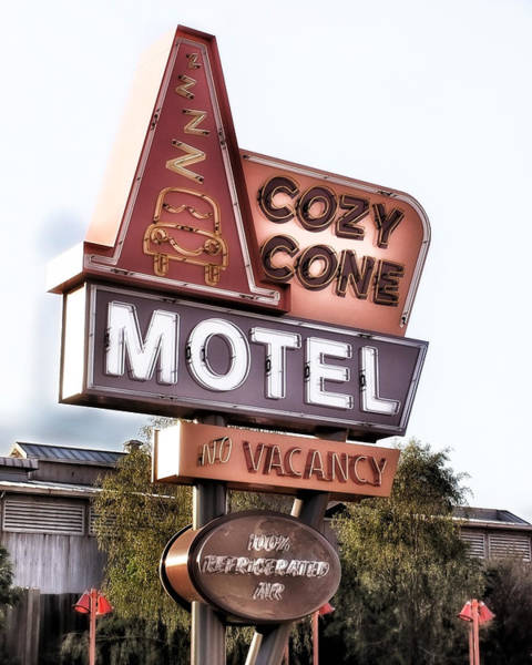 Photograph - Crazy Cone Motel Vintage Neon Sign by Gigi Ebert