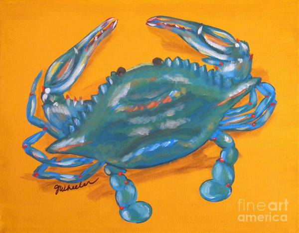 Wall Art - Painting - Crazy Crab by JoAnn Wheeler