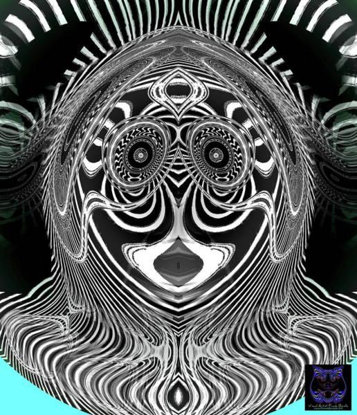 Digital Art - Crazy Girl by Visual Artist Frank Bonilla