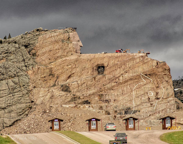 Photograph - ...entrance Crazy Horse Memorial South Dakota.... by Paul Vitko