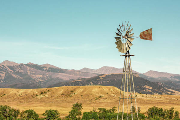 Wall Art - Photograph - Crazy Mountain Windmill by Todd Klassy