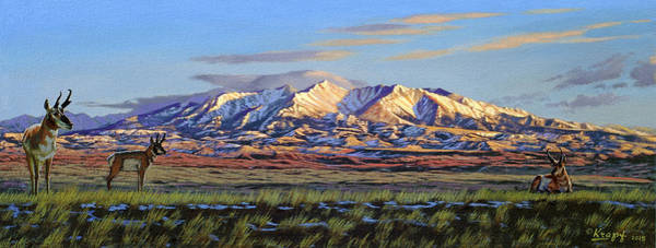 Wall Art - Painting - Crazy Mountains-morning by Paul Krapf