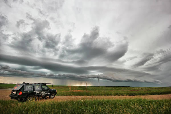 Photograph - Crazy Shelf Cloud Near Ponteix Sk. by Ryan Crouse