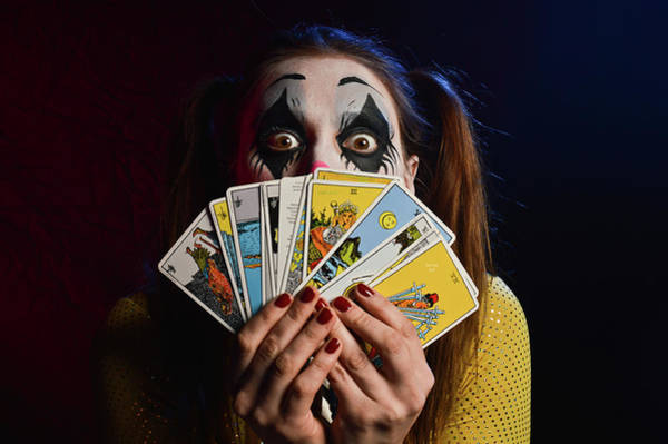 Mixed Media - Crazy Tarot Card Reader by Trish Tritz