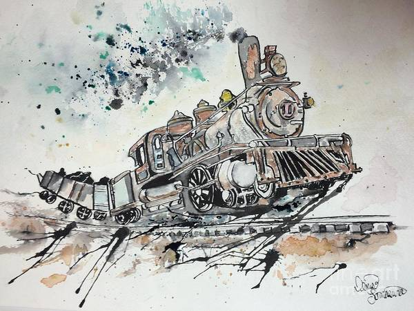 Painting - Crazy Train by Denise Tomasura