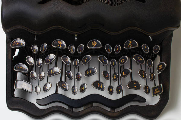 Wall Art - Photograph - Crazy Typewriter by Garry Gay