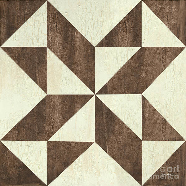 Wall Art - Painting - Cream And Brown Quilt by Debbie DeWitt