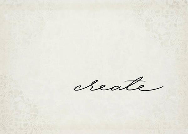 Create Digital Art - Create One Word Series by Ricky Barnard