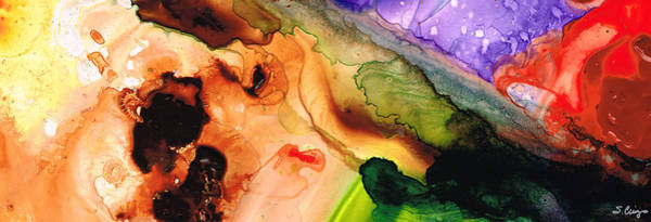 Primary Colors Painting - Creation's Embrace by Sharon Cummings