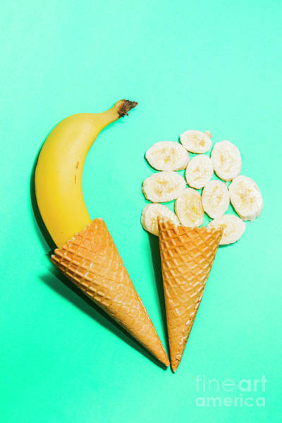 Wall Art - Photograph - Creative Banana Ice-cream Still Life Art by Jorgo Photography - Wall Art Gallery