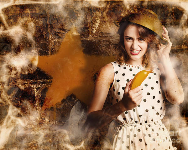 Yellow Banana Photograph - Creative Cooking Pin-up by Jorgo Photography - Wall Art Gallery