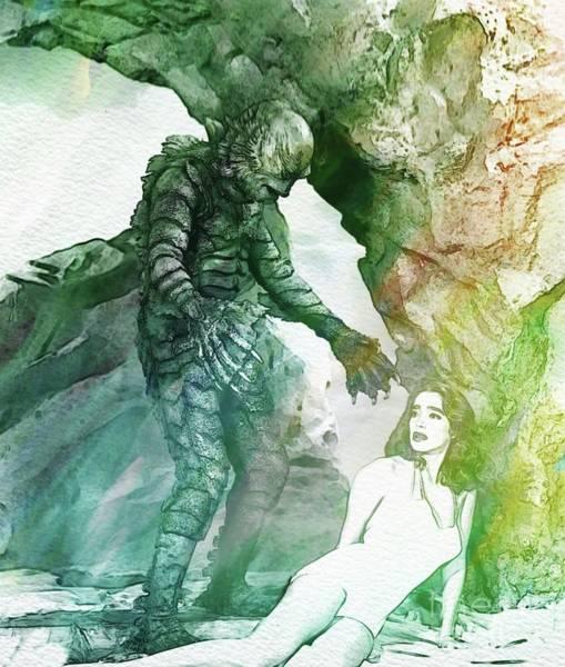 Lagoon Digital Art - Creature From The Black Lagoon by John Springfield