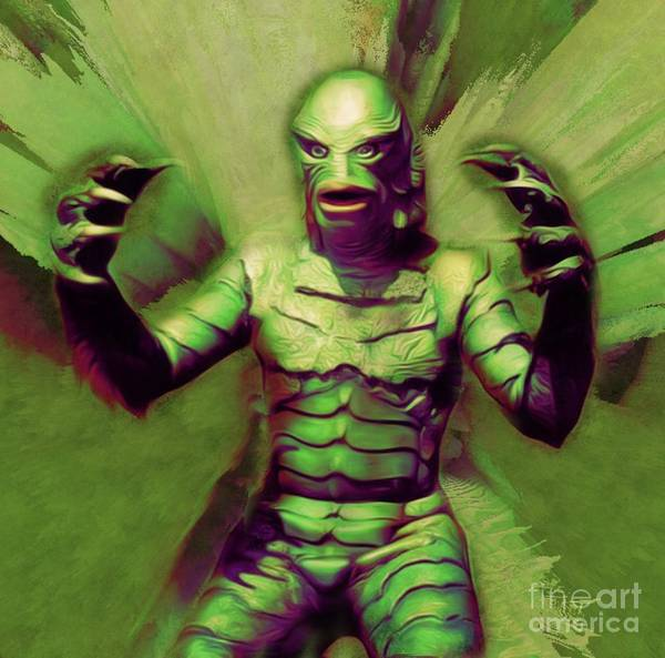 Scifi Digital Art - Creature From The Black Lagoon by Mary Bassett
