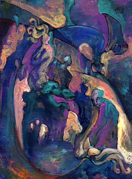 Genie Painting - Creature Struggle by David Matthews